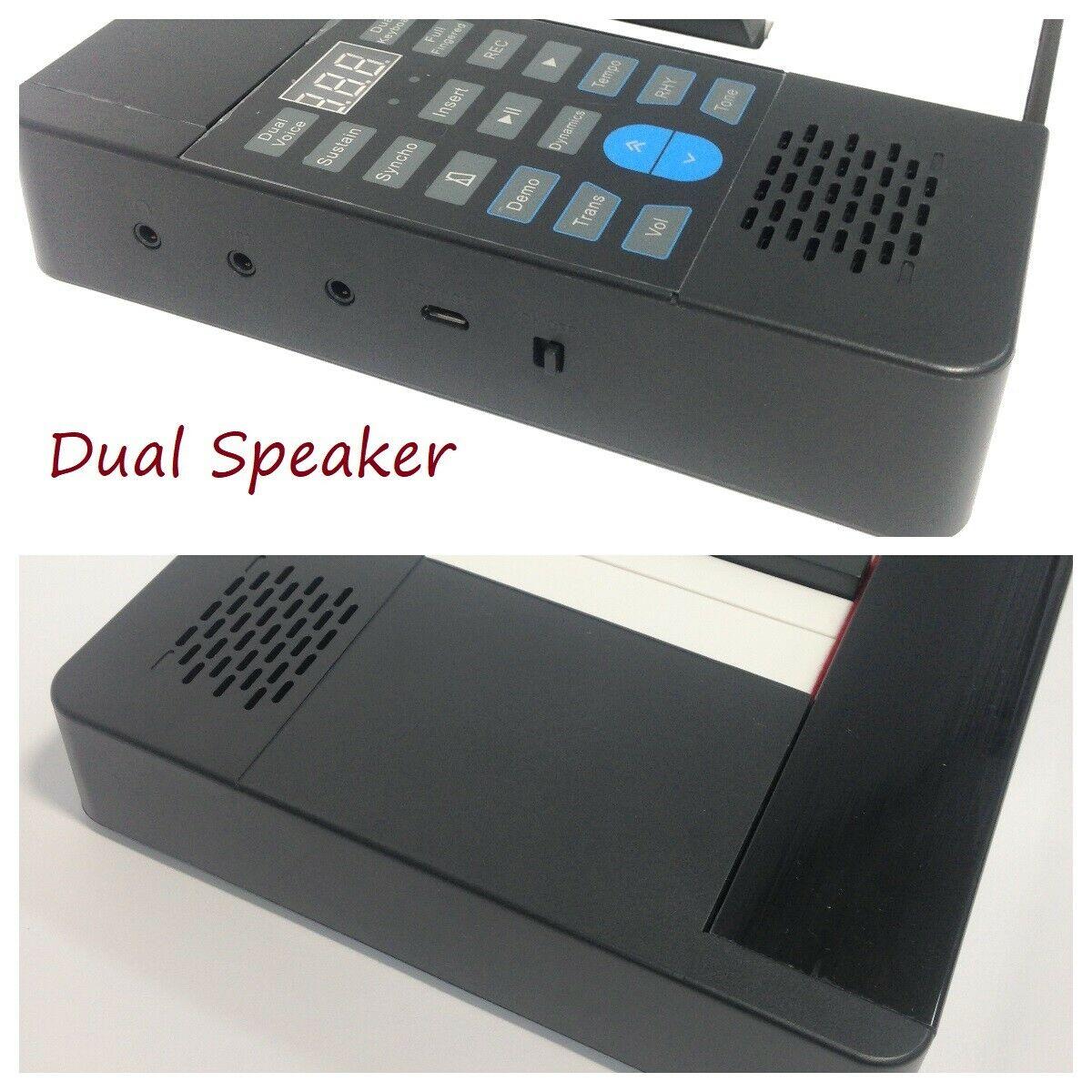 88 Keys Foldable Electronic Keyboard Piano w/Dual Speaker,Rechargeable PJ88B  - HillSound